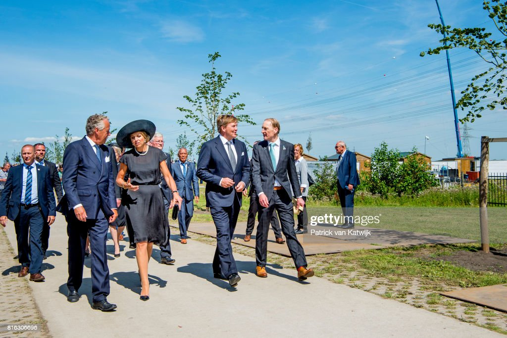 King Willem-Alexander and Queen Maxima Attends MH17 Remembrance Ceremony in Vijfhuizen