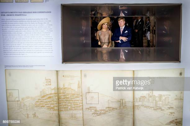 King WillemAlexander of The Netherlands and Queen Maxima of The Netherlands visit the chairman of the parliament Ferro Rodrigues at the Palacio de...