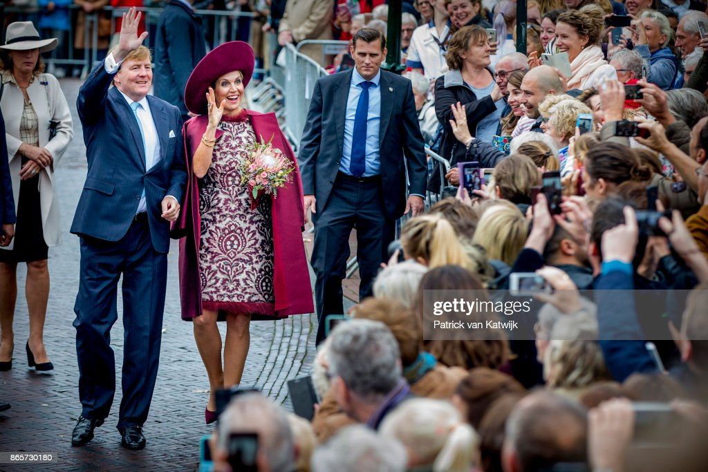 King Willem-Alexander and Queen Maxima of The Netherlands Visit The Eemland