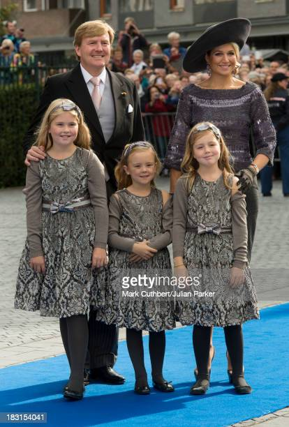 King WillemAlexander of the Netherlands and Queen Maxima of the Netherlands with Crown Princess CatharinaAmalia of the Netherlands Princess Alexia of...