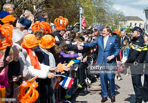 King WillemAlexander of The Netherlands attends King's Day the celebration of the birthday of the Dutch King on April 27 2016 in Zwolle Netherlands...