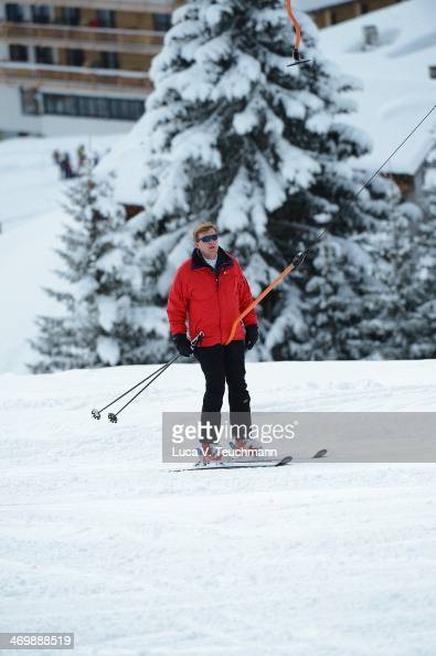 King WillemAlexander of the Netherlands attends the annual winter photocall on February 17 2014 in Lech Austria