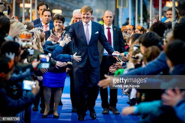 King WillemAlexander of The Netherlands attends the celebrations of the 50th anniversary of Lelystad city on November 15 2017 in Lelystad Netherlands