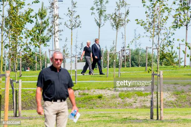 King WillemAlexander of The Netherlands attends the MH17 remembrance ceremony and the unveiling of the National MH17 monument on July 17 2017 in...