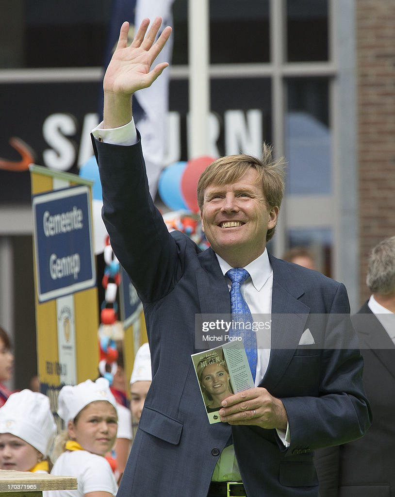 King Willem-Alexander of The Netherlands is seen during an official visit on June 12, 2013 in Venlo, Netherlands.