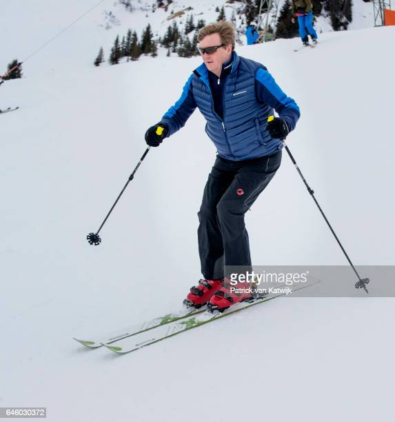 King WillemAlexander of The Netherlands poses for the media during their annual wintersport holidays on February 27 2017 in Lech Austria