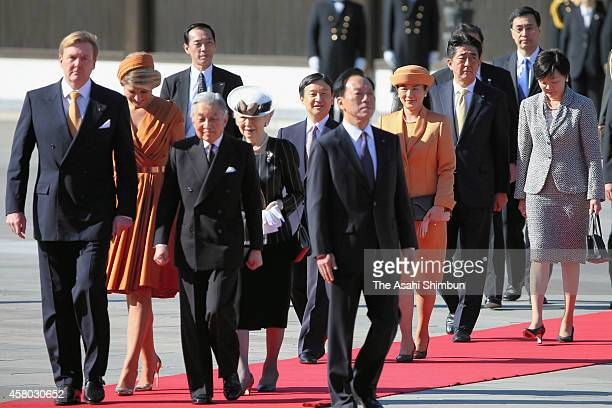 King WillemAlexander of the Netherlands Queen Maxima of the Netherlands Emperor Akihito Empress Michiko Crown Prince Naruhito Crown Princess Masako...