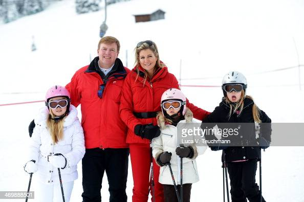 King WillemAlexander of the Netherlands Queen Maxima of the Netherlands Princess Ariane Princess Alexia and Princess CatharinaAmalia attends the...