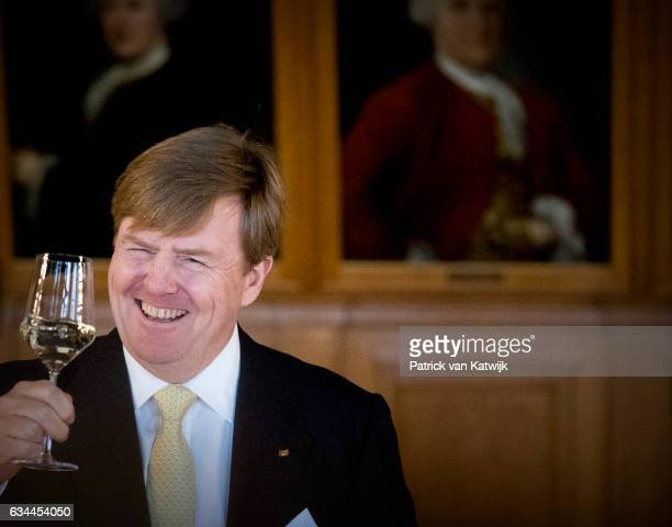 King WillemAlexander of The Netherlands visita Prime Minister Tillich in the Altes Rathuis during their 4 day visit to Germany on February 09 2017 in...