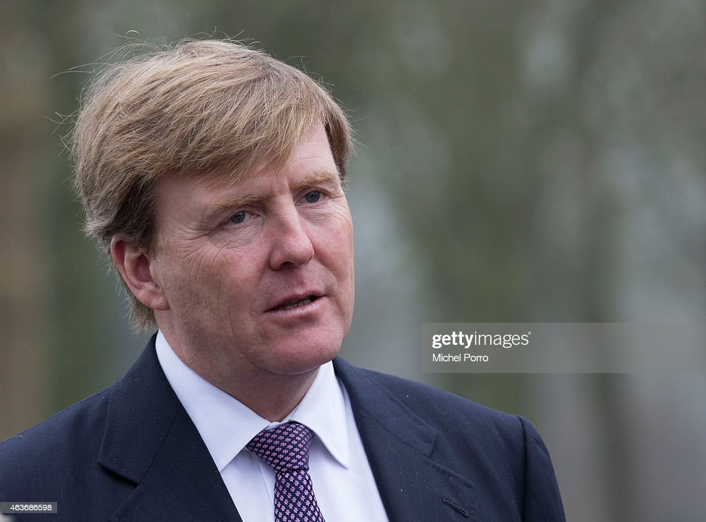 <a gi-track='captionPersonalityLinkClicked' href=/galleries/search?phrase=King+Willem-Alexander&family=editorial&specificpeople=160214 ng-click='$event.stopPropagation()'>King Willem-Alexander</a> of The Netherlands visits the site where a windmill park is planned on February 17, 2015 in Tweede Exloermond, The Netherlands. The royal couple paid a visit to the north east of the country