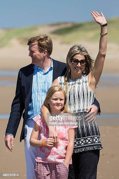 King WillemAlexander Princess Ariane and Queen Maxima of The Netherlands and their dogs pose for pictures on July 10 2015 in Wassenaar Netherlands
