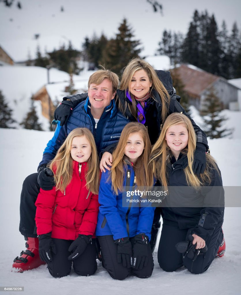 The Dutch Royal Family Hold Annual Photo Call In Lech