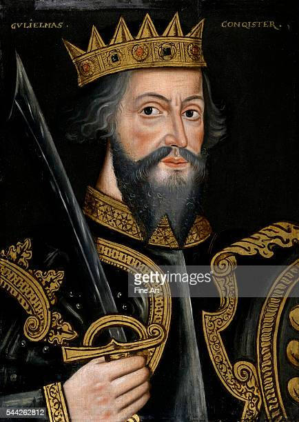King William I first Norman king of England oil on panel unknown artist c 15901610 National Portrait Gallery London