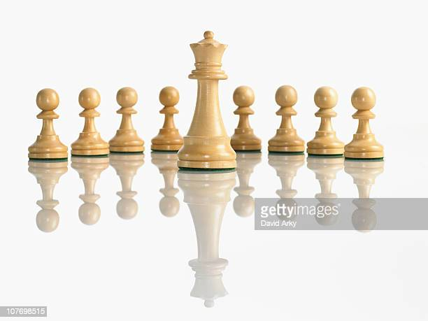 King with pawn chess pieces