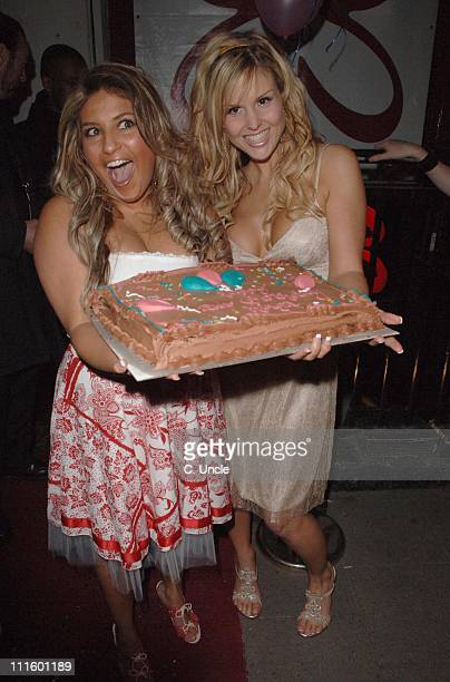 Kinga and Michelle Bass during Kinga's 21st Birthday Party Arrivals April 20 2006 at Eve Club in London Great Britain