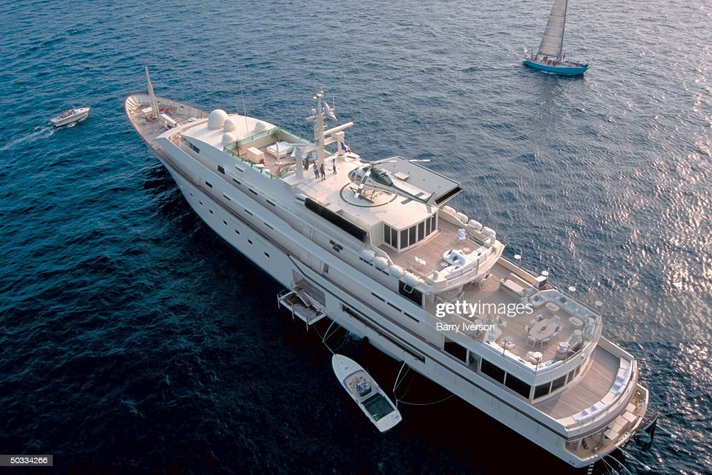 Kingdom 5-KR yacht owned by billionaire investor Saudi Prince Alwaleed (Kingdom Holding Co.), onetime possession of US real estate mogul Donald Trump.