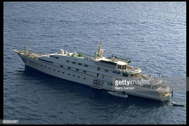 Kingdom 5KR yacht owned by billionaire investor Saudi Prince Alwaleed onetime possession of US real estate mogul Donald Trump