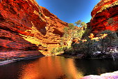 Spectacular gorge in the centre of red Australia