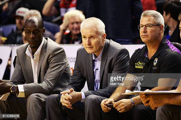 Kings coach Andrew Gaze looks on before the round two NBL match between the Illawarra Hawks and the Sydney Kings at the Wollongong Entertainment...