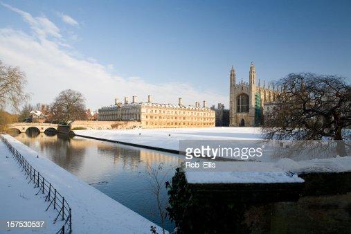 Kings College Cambridge in winter
