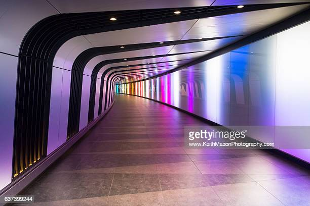 King's Cross lit walkway