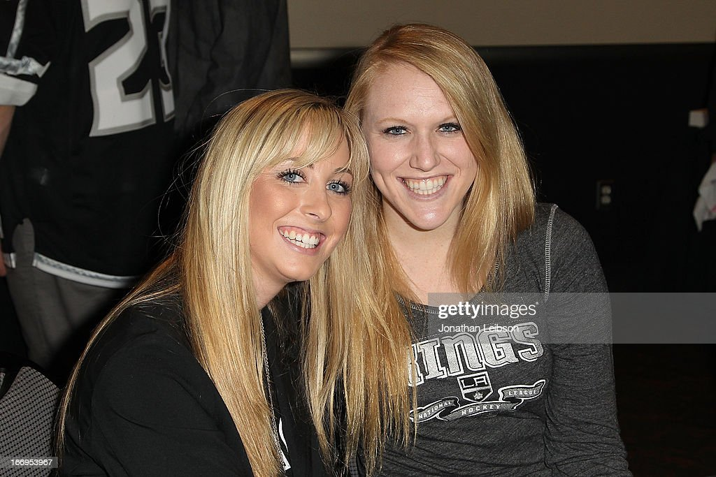 LA Kings fans attend the LA Kings Chalk Talk & Game Experience at Staples Center on April 18, 2013 in Los Angeles, California.