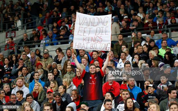 Kings fans during the Super Rugby match between Southern Kings and Cell C Sharks at Nelson Mandela Bay Stadium on May 13 2017 in Port Elizabeth South...