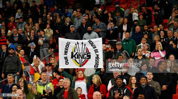 Kings fans during the Super Rugby match between Southern Kings and Toyota Cheetahs at Nelson Mandela Bay Stadium on July 14 2017 in Port Elizabeth...