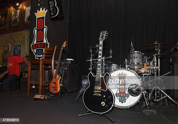 King's guitar Lucille displayed at Blues Legend BB King Remembered on May 15 2015 at BB King's Blues Club on Beale Street in Memphis Tennessee King...