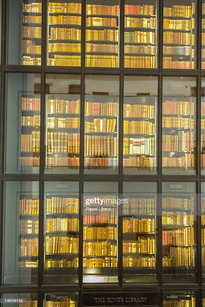 King's Library section at British Library, London : Stock Photo