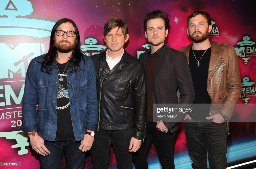Kings of Leon attend the MTV EMA's 2013 at the Ziggo Dome on November 10 2013 in Amsterdam Netherlands