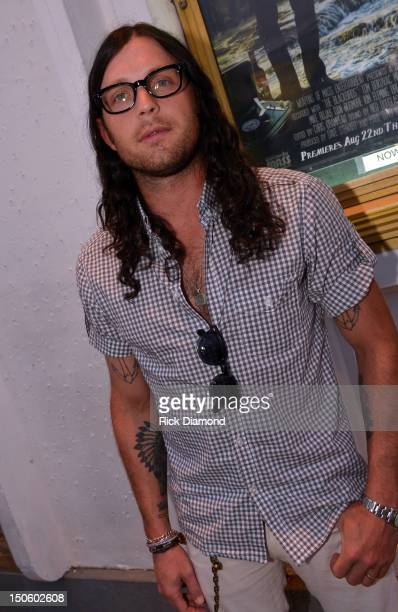 Kings Of Leon band member Nathan Followill attend the 'The Ringmaster General' premiere at the Belcourt Theater on August 22 2012 in Nashville...