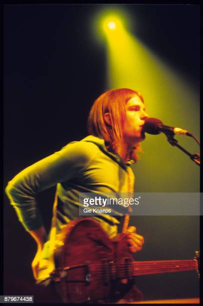 Kings of Leon Caleb Followill performing on stage Pukkelpop Festival Hasselt Belgium 20th August 2004