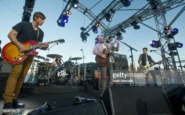 Kings of Leon perform live for fans at Sydney Harbour on November 19 2013 in Sydney Australia