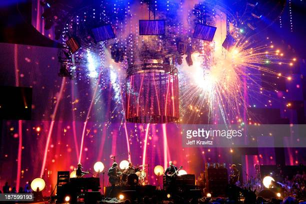 Kings of Leon perform onstage during the MTV EMA's 2013 at the Ziggo Dome on November 10 2013 in Amsterdam Netherlands