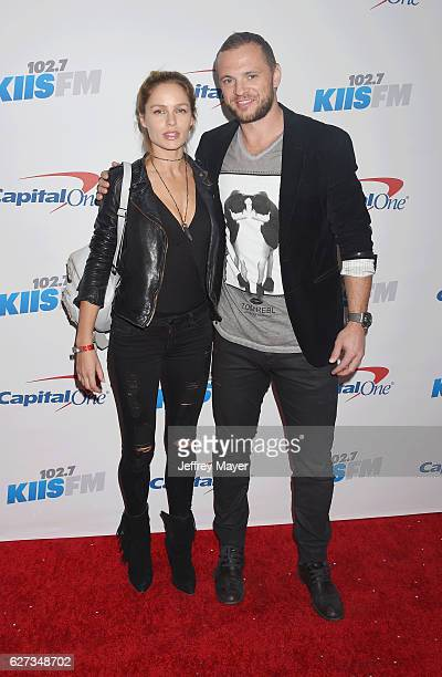 Kings player Mark Yannetti and guest attend 1027 KIIS FM's Jingle Ball 2016 at Staples Center on December 2 2016 in Los Angeles California