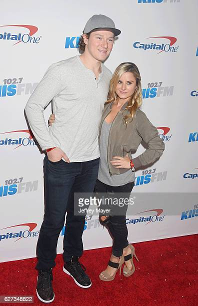Kings player Tyler Toffoli and guest attend 1027 KIIS FM's Jingle Ball 2016 at Staples Center on December 2 2016 in Los Angeles California