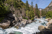 Kings river flowing through Kings Canyon in the Sierra Nevada