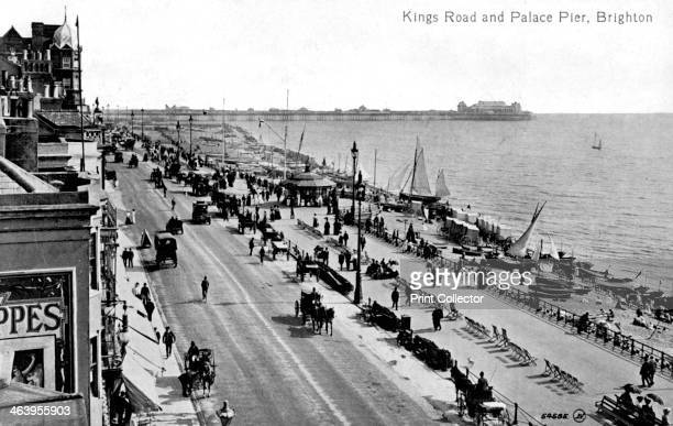King's Road and the Palace Pier Brighton Sussex 20th century