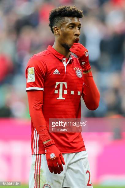 Kingsley Coman of Bayern Muenchen looks on during the Bundesliga match between Bayern Muenchen and Hamburger SV at Allianz Arena on February 25 2017...
