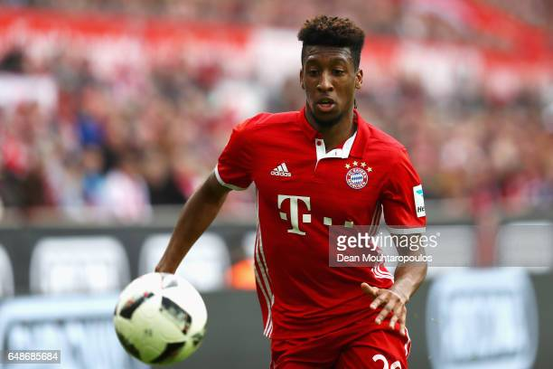 Kingsley Coman of Bayern Munich in action during the Bundesliga match between 1 FC Koeln and Bayern Muenchen at RheinEnergieStadion on March 4 2017...