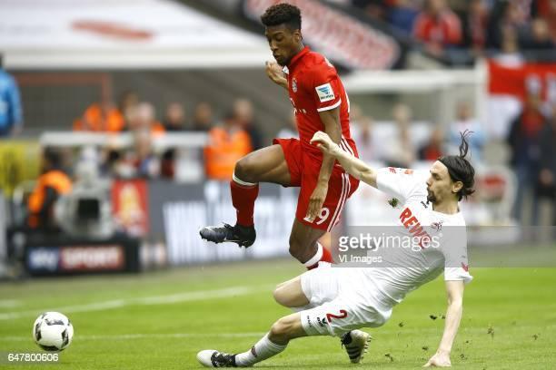 Kingsley Coman of Bayern Munich Neven Subotic of 1FC Kolnduring the Bundesliga match between 1 FC Koln and Bayern Munich on March 04 2017 at the...