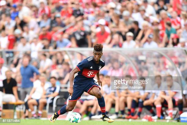 Kingsley Coman of FC Bayern Muenchen plays the ball during the preseason friendly match between FSV ErlangenBruck and Bayern Muenchen at Adi Dassler...