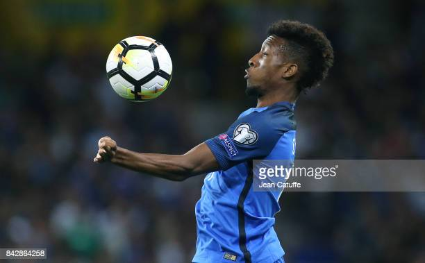 Kingsley Coman of France during the FIFA 2018 World Cup Qualifier between France and Luxembourg at the Stadium on September 3 2017 in Toulouse France
