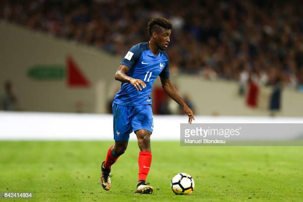 Kingsley Coman of France during the Fifa 2018 World Cup qualifying match between France and Luxembourg at on September 3 2017 in Toulouse France