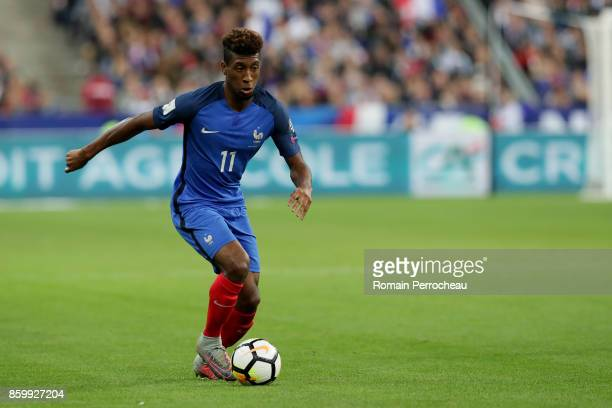 Kingsley Coman of France in action during the FIFA 2018 World Cup Qualifier between France and Belarus at Stade de France on October 10 2017 in Paris