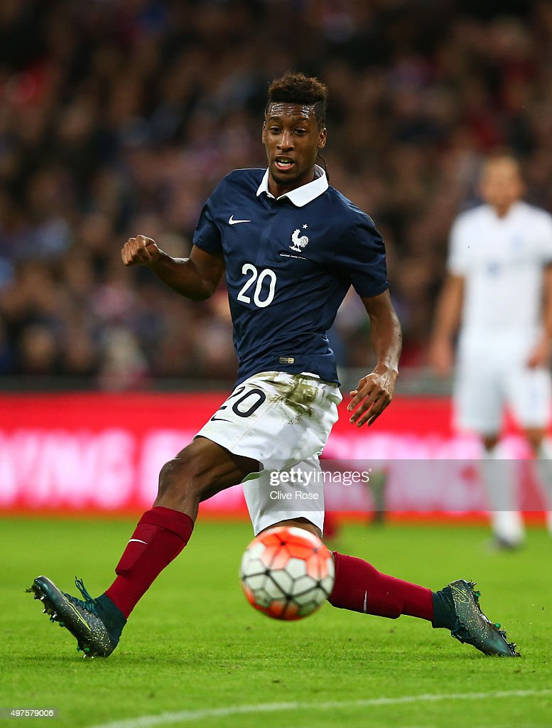 Kingsley Coman of France in action during the International Friendly match between England and France at Wembley Stadium on November 17 2015 in...
