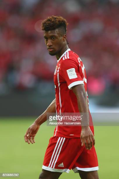 Kingsley Coman of Muenchen looks on during the International Champions Cup Shenzen 2017 match between Bayern Muenchen and AC Milan at on July 22 2017...