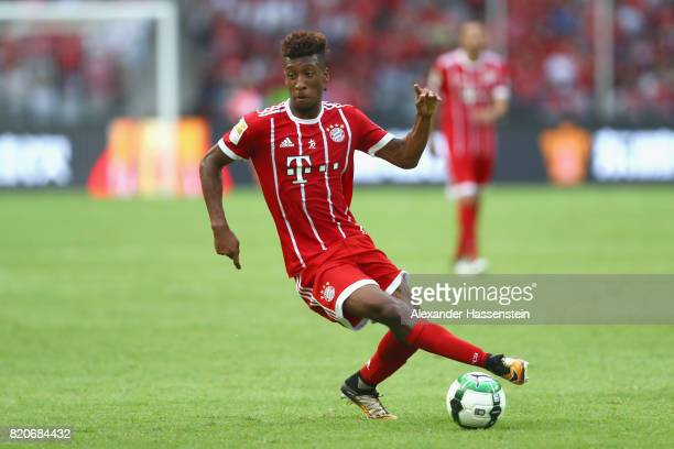 Kingsley Coman of Muenchen runs with the ball during the International Champions Cup Shenzen 2017 match between Bayern Muenchen and AC Milan at on...