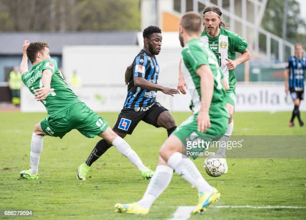 Kingsley Sarfo of IK Sirius FK during the Allsvenskan match between IK Sirius FK and Hammarby IF at Studenternas IP on May 21 2017 in Uppsala Sweden